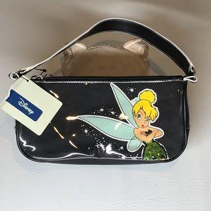 Disney Girls Black Thinkerbell Purse Bag